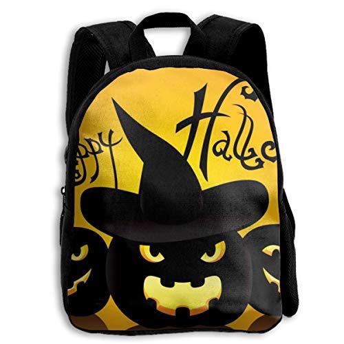 BINGZHAO Cat Artwork Notation Tune Children Halloween School Bag Bookbag Backpack Daypack for Kids Girls Boys -