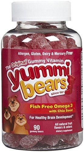 Produits nutritionnels Hero - Omega Yummi ours enfants 3 avec la graine de Chia - 90 Gummies