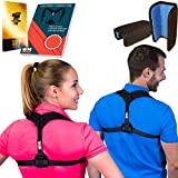 """Posture Corrector for Women & Men, Relieves Shoulders Pain, Corrects Slouching, Hunching & Bad Posture, Upper Back Brace for Clavicle Support, Chest 28""""-48"""""""