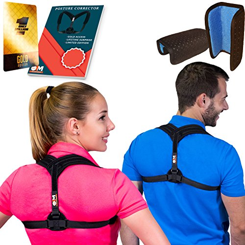 Only1MILLION Back Straightener Posture Corrector for Women & Men, Relieves Shoulders Pain, Corrects Slouching, Hunching & Bad Posture, Posture Brace for Women and Men, Chest (28
