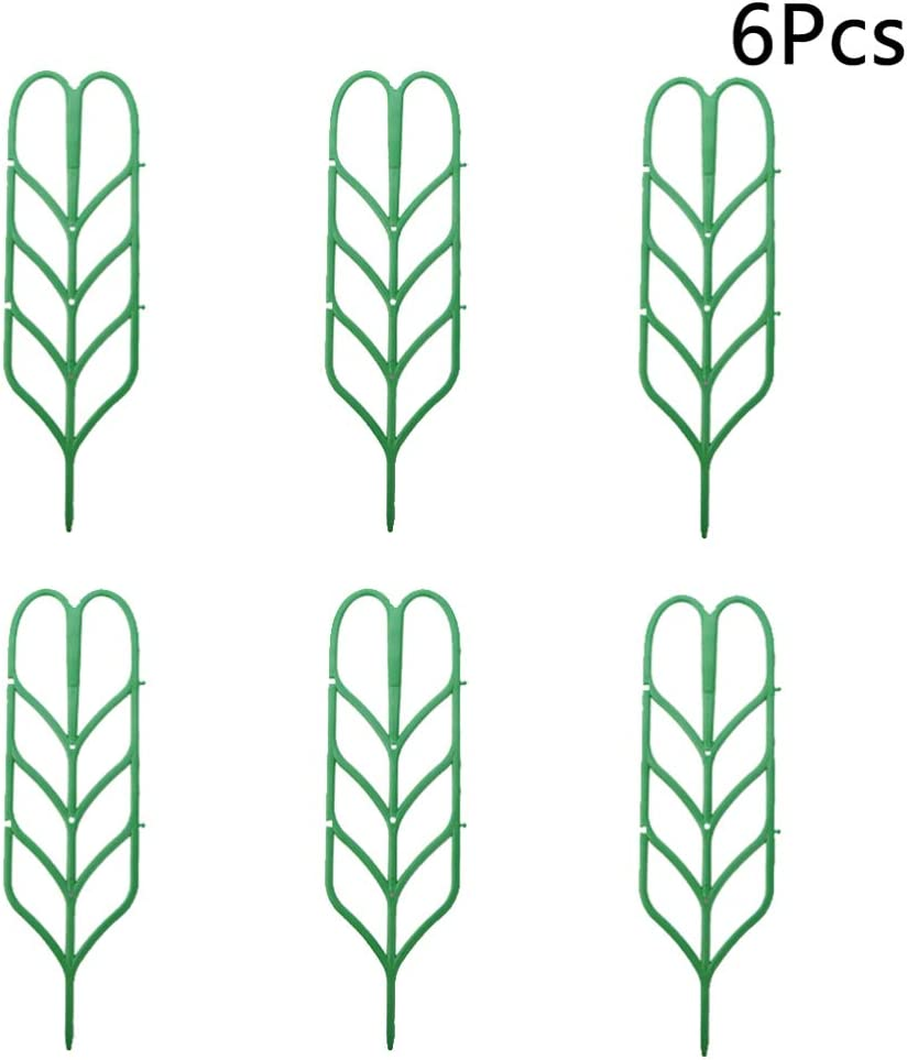 35.5 x 10.5 x 0.3cm NICEXMAS 6PCS Leaf Shape Garden Trellis for Climbing Plants,Plastic Garden Trellis Plant Support for Climbing Trellis,Flower,Vegetable,Cucumber Trellis,Ivy Roses