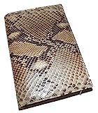 Baglioni Italia Genuine Python Snakeskin Address & Memo Book Brown Multi