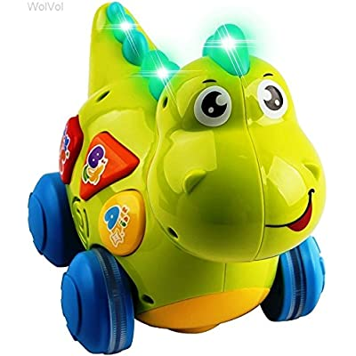 WolVol Talking Dinosaur Toy with Lights and Sounds for Kids - Teaching, Learning, Activity, Walking & Fun Action: Toys & Games