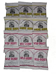 Claey\'s Lemon Drops and Wild Cherry Assortment 6oz packages (12 Pack 6 of each flavor)