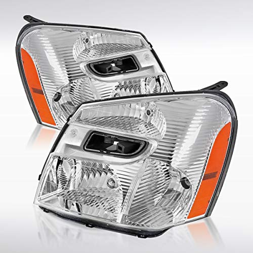 Autozensation For Chevy Equinox Replacement Clear Headlight Pair Front Head Lamp Left+Right (Equinox Headlamp)
