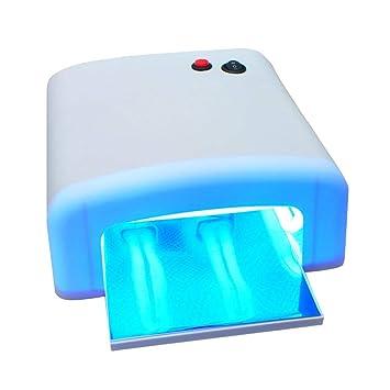 Secador de Uñas, vinmax profesional secador de uñas lámpara UV luz - Salon Gel Curado Tubo nos enchufe: Amazon.es: Hogar
