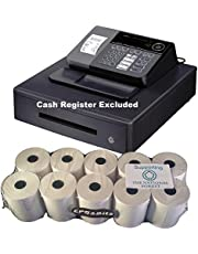 EPOSBITS® - Rollos para caja registradora Casio SE-S10 SES10 SES SE S10 S 10-10 rollos