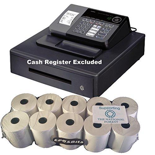 eposbits® marca rollos para Casio SE-S10SES10SES se S10S 10rollos de caja registradora–10