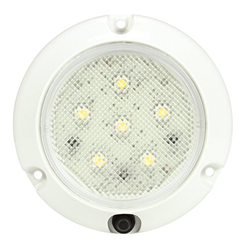 Truck-Lite 44438C Super 44 Series Clear 6 Diode Surface Mounted LED Interior Dome Lamp with Switch