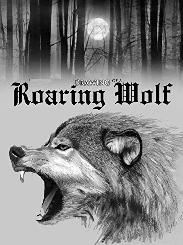 Drawing of a Roaring Wolf by