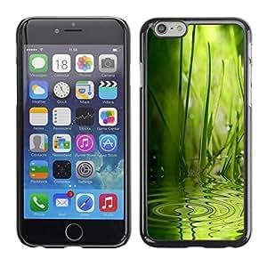 Be Good Phone Accessory // Dura Cáscara cubierta Protectora Caso Carcasa Funda de Protección para Apple Iphone 6 // Wave Water Rain Nature Green