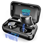 #LightningDeal True Wireless Earbuds, VANKYO X200 Bluetooth 5.0 Earbuds in-Ear TWS Stereo Headphones with Smart LED Display Charging Case IPX8 Waterproof 120H Playtime Built-in Mic with Deep Bass for Sports Work