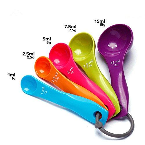 cuchara para caf/é colores variados. Set de 5/cucharas medidoras para cocina sal y az/úcar