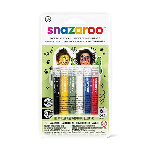 Snazaroo Rainbow Face Paint Sticks - Set of (Elf Face Paint Halloween)