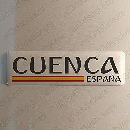 Pegatina Cuenca España Resina, Pegatina Relieve 3D Bandera Cuenca ...