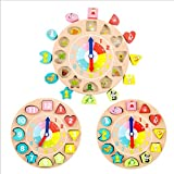 DALAZ Baby Toys Puzzle Matching Blocks The Infant Children Aged 1 to 3 Clock Letters Shape Recognition