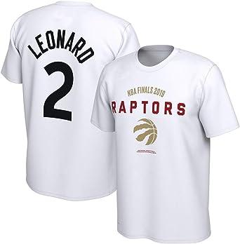 Camiseta NBA campeón 2 Kawhi Leonard Imprimir Suelta cómoda Camiseta Informal Blanca, L: Amazon.es: Ropa y accesorios