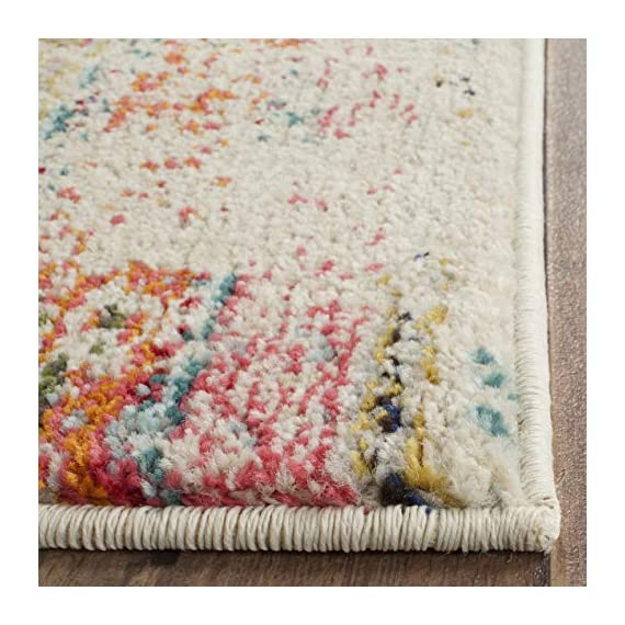 """Safavieh Monaco Collection MNC222F Modern Bohemian Distressed Runner, 2' 2"""" x 8', Multicolor - Safavieh's Monaco Modern Bohemian Rug with 1,000+ customer reviews Free spirited design adds a modern to touch to the living room, dining room, bedroom, foyer, or playroom Refined power loomed construction and enhanced polypropylene fibers ensure an easy care and virtually non shedding rug - runner-rugs, entryway-furniture-decor, entryway-laundry-room - 51cUpcTV4hL. SS570  -"""