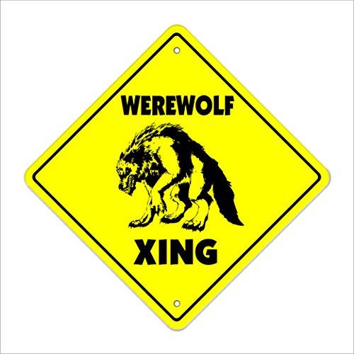 Werewolf Crossing Sign Zone Xing | Indoor/Outdoor | 12