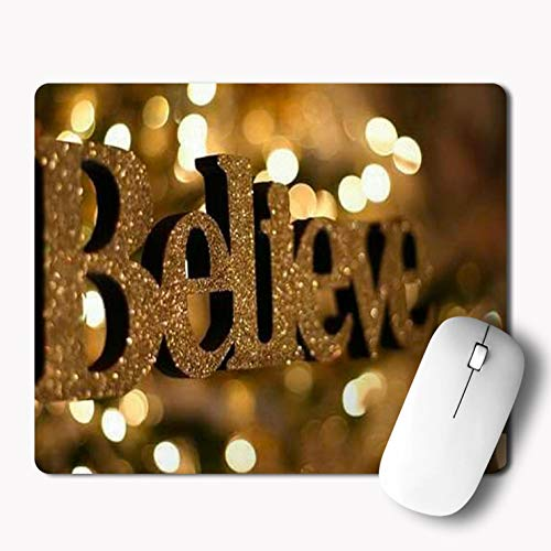 iKraft Believe Typography Mouse pad  Motivational Quotes Mousepad