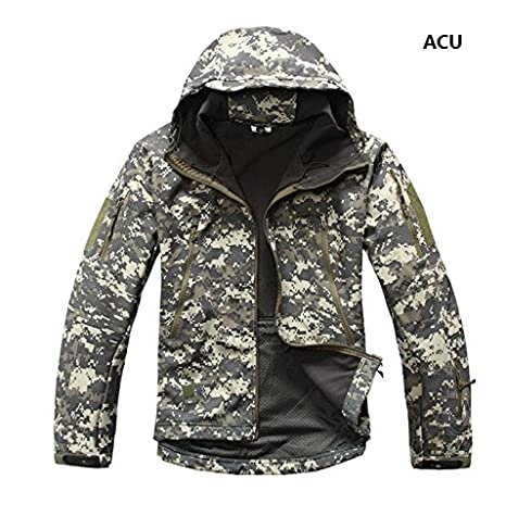 8bf819092675d Amazon.com : s.archon Lurker Shark Skin - Soft Shell V4 Outdoors Military  Tactical Jacket - Men - Waterproof, Windproof - Coat Hunt Camouflage Army  Clothing ...