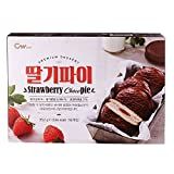 CWFOOD Strawberry Choco Pie 352g Pack of 16 pieces of individually packed pies per box