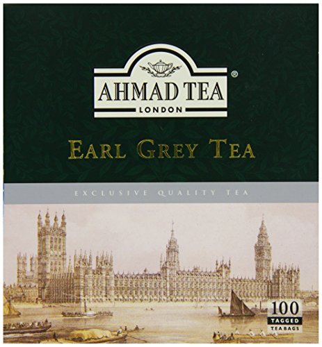 Ahmad Tea Earl Grey (Pack of 1, Total 100 Tea Bags)