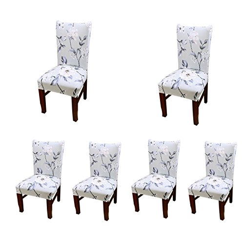 Jiuhong Stretch Removable Washable Short Dining Chair Protector Cover Slipcover (6, Style 15)