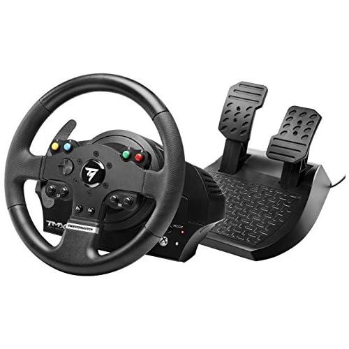 chollos oferta descuentos barato Thrustmaster TMX Force Feedback Volante realista de carreras con pedales grandes para XboxOne PC 28 cm de diámetro con Licencia Oficial Xbox One