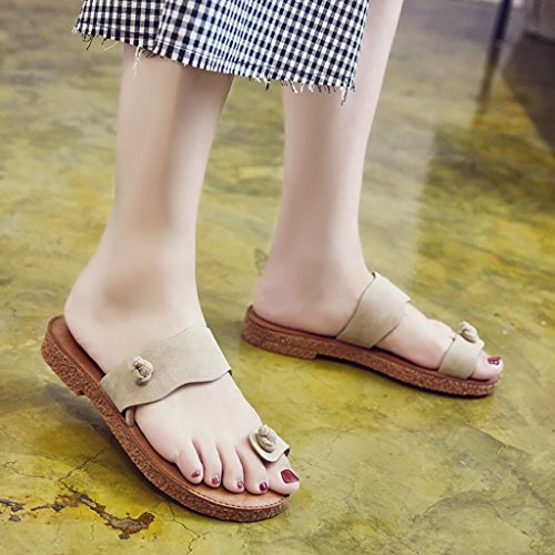 Sandals Slippers PENGFEI EU36 C A Size UK4 Summer Beach 230mm Student Woman Color Slippers L Flat qfgfYt
