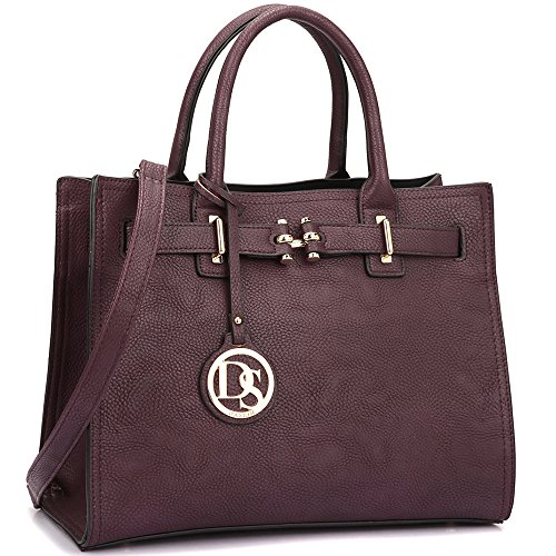 Purple Satchel Handbag - 2