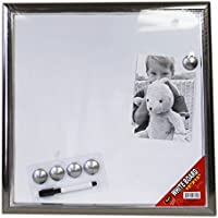 15 Inch Square Whiteboard with Magnets and Marker