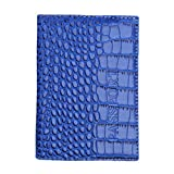 #4: Kimloog Clearance!PU Leather Passport Cover Holder RFID Blocking Men Women Travel Wallets (Blue)