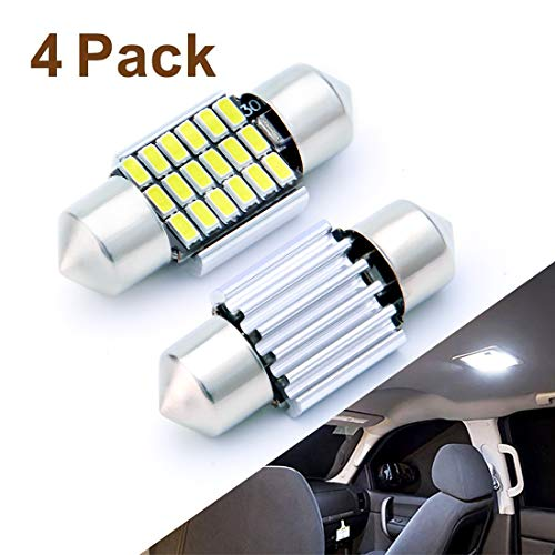 AUTOGINE 4pcs CAN-Bus Error Free DE3175 DE3021 DE3022 3175 6428 LED Bulbs Festoon 31MM 1.25