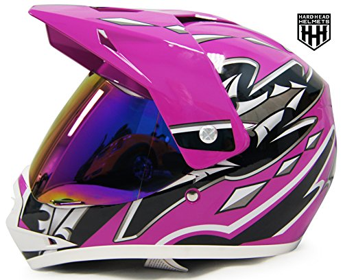 HHH DOT Youth Helmet for Dirtbike ATV Motocross MX Offroad Motorcyle Helmet with VISOR (Atv Off Road Helmet)