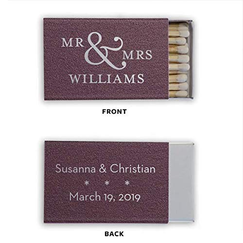 Wedding Custom Matches, Personalized Matches, Favors, Candle Box Matches, Cigar Bar, Matchbox 35 ()