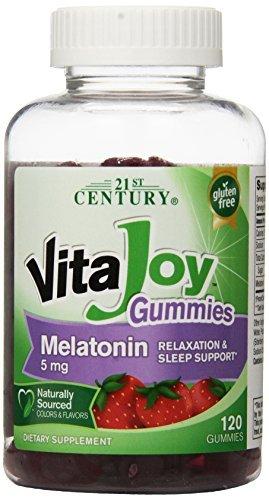Amazon.com: 21st Century Vitajoy Melatonin Gummies, Strawberry, 120 ...