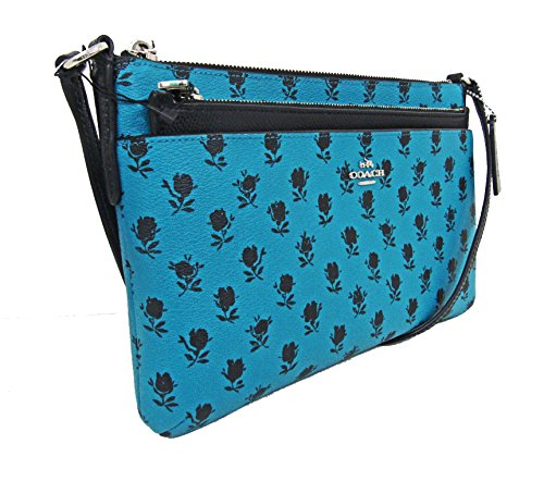 COACH PRINT POUCH COATED IN FLORAL F38159 BADLANDS EAST WITH POP WEST UP CROSSBODY CANVAS CfBCrxPZqw