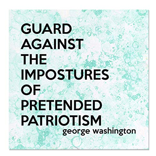 Aluminum Metal Sign Décor Guard Against The Impostures of Pretended Patriotism Novelty Square Wall Art - Green Bubbles, 16
