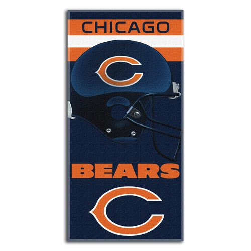 NFL Chicago Bears Banner Beach Towel, 30 x 60-Inch