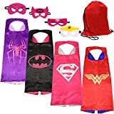 SPESS Costumes Girl Cape and Mask with Red Bag