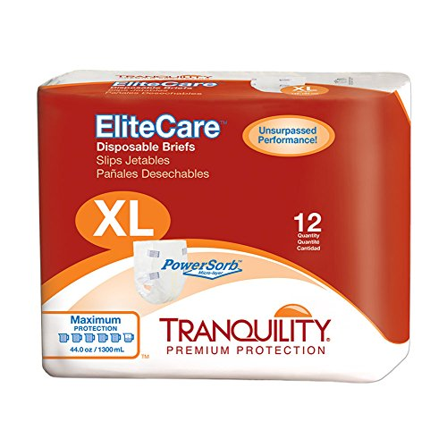 (Tranquility EliteCare® Maximum Absorbency Tape-Tab Style Brief ... (XL - 48 Count))