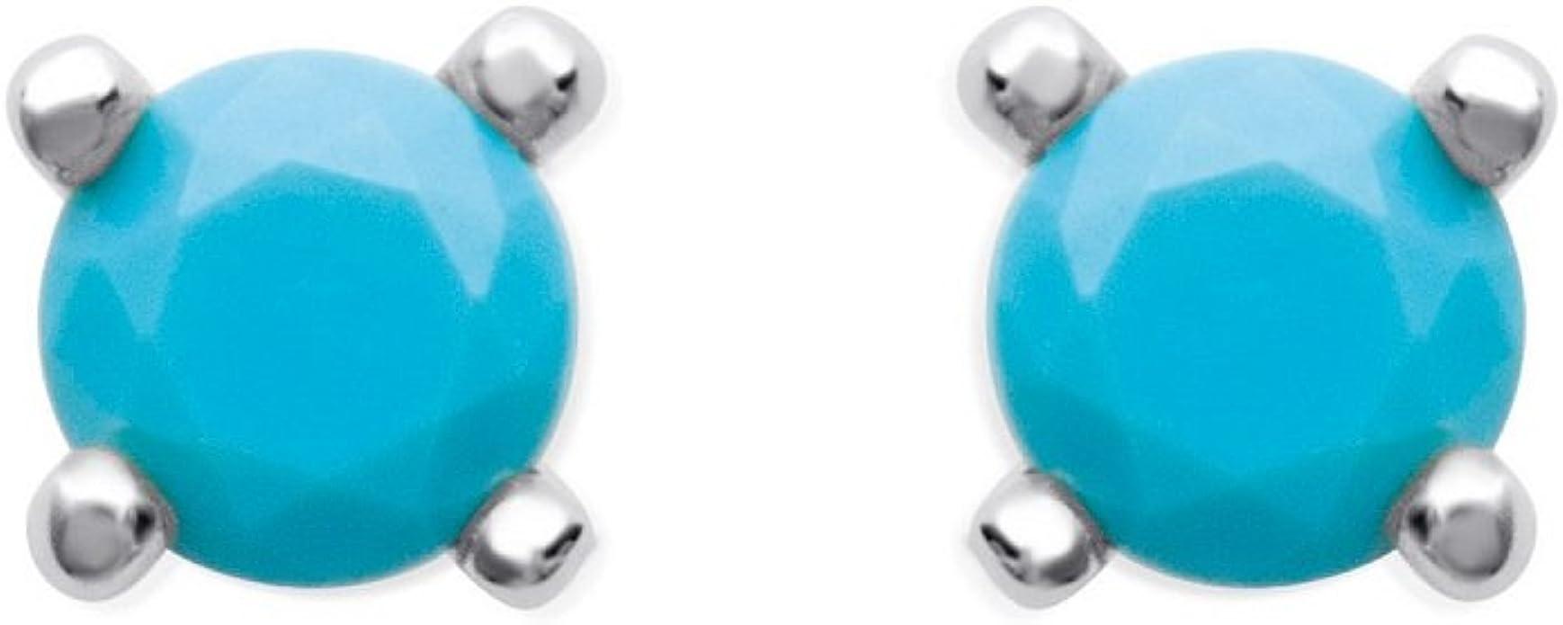 1 ct FEMME SUPERBE SAPHIR BLEU Argent 925 Boucles d/'oreilles Créoles 25x12mm
