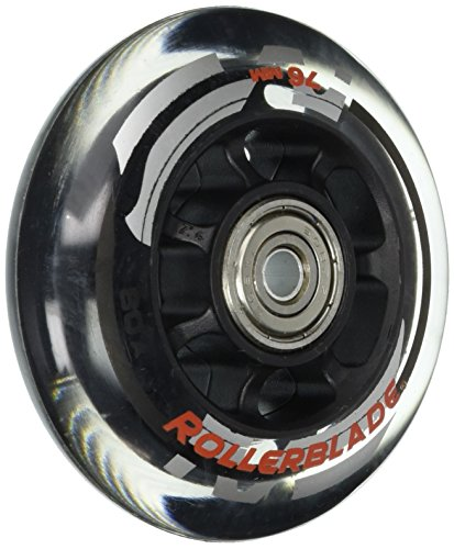 Rollerblade ABEC 5 Skate Bearings Complete Wheel Kit, 76mm/80A, Clear