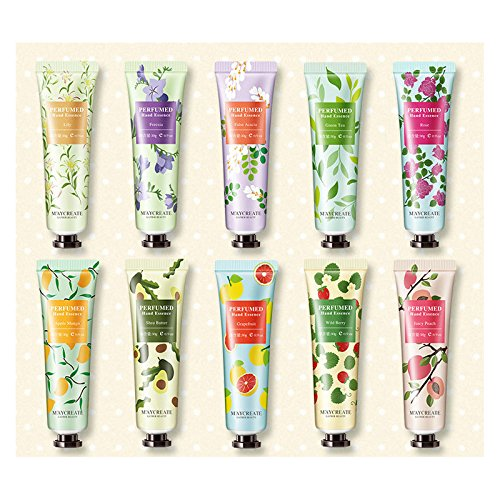 10/5 PC Fruits Delicious Hand & Nail Cream Pack, Hand Cream Collection Gift, 1 oz 30ml (10 PC Full SIZE (B))
