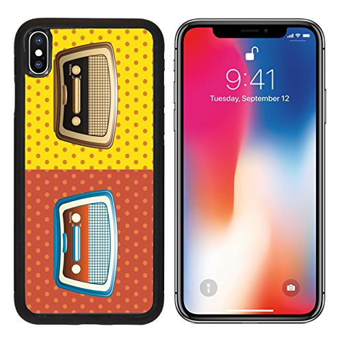 MSD Premium Apple iPhone X Aluminum Backplate Bumper Snap Case IMAGE ID 28307791 Pop art design over colorful background vector illustration