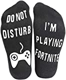 Prettyui Do Not Disturb,I'm Gaming Funny Ankle Socks - Gamer Socks - Perfect Gamers Gift for Game Lovers - Christmas Birthday Halloween Present