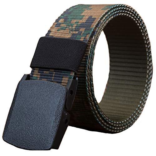 - Belttical Belt Sports Outdoor Waist Canvas Belt Mens Army Style Buckle Nylon Woodland Digital Camo