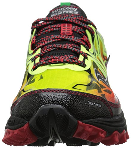 Saucony Xodus 6.0 - Zapatillas de trail-running unisex, color amarillo / rojo / negro