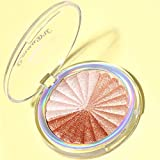 Jinjin 3in1/5in1 Professional New Makeup Face Powder Bronzer Highlighter Powder Palette Cosmetic (A)